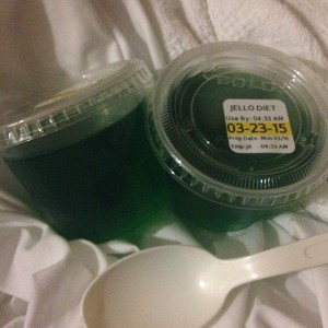 Green Jell-O for St. Patty's Day!
